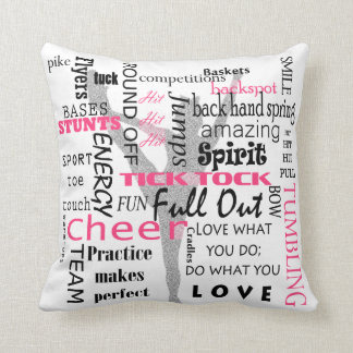 Cheerleader Square Throw Pillow