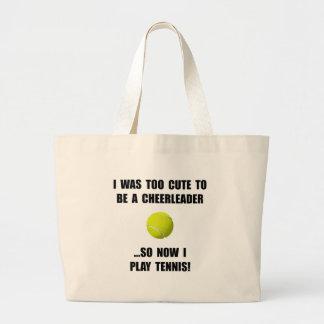 Cheerleader Tennis Large Tote Bag