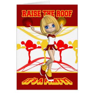 Cheerleader Theme Party Invitation Greeting Card
