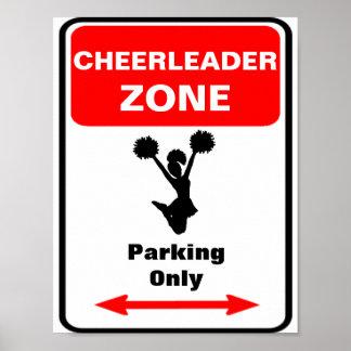 CHEERLEADER Zone Parking Sign