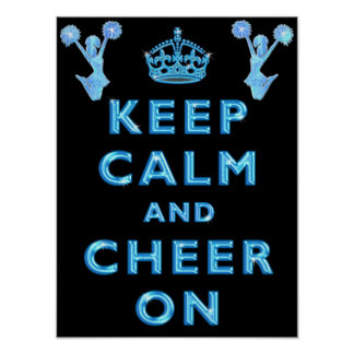 Cheerleaders KEEP CALM AND CHEER ON Posters