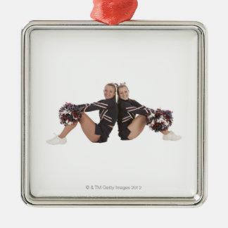 Cheerleaders Metal Ornament