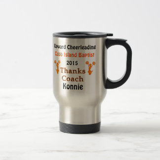 Cheerleading Coach Gifts Mug, 5 Text Box Templates Travel Mug