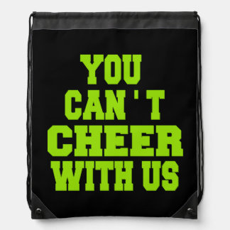 Cheerleading drawstring backpack