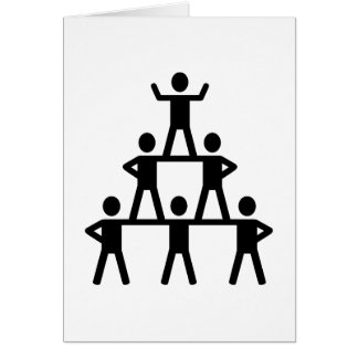 Cheerleading Pyramid Card