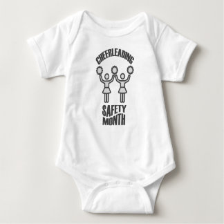 Cheerleading Safety Month - Appreciation Day Baby Bodysuit