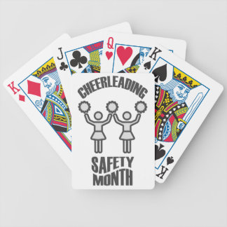 Cheerleading Safety Month - Appreciation Day Bicycle Playing Cards