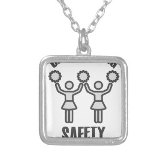 Cheerleading Safety Month - Appreciation Day Silver Plated Necklace