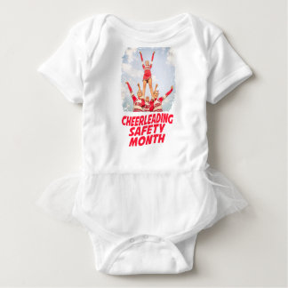Cheerleading Safety Month - March Baby Bodysuit