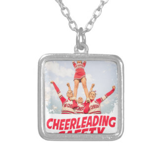Cheerleading Safety Month - March Silver Plated Necklace