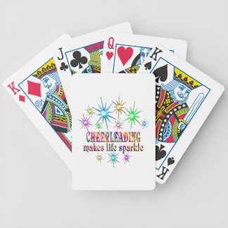 Cheerleading Sparkles Bicycle Playing Cards