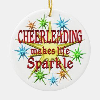 Cheerleading Sparkles Ceramic Ornament