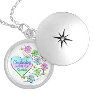 Cheerleading Sparkles Silver Plated Necklace