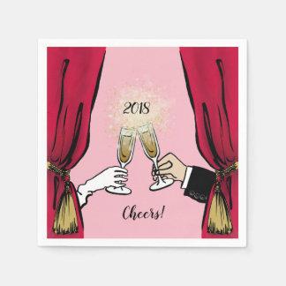 Cheers 2018! paper napkins