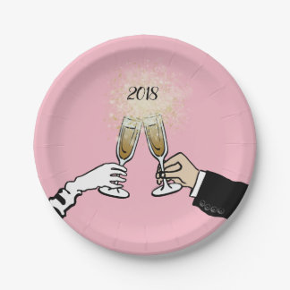 Cheers 2018! paper plate