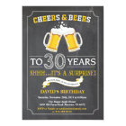 Cheers and Beers 30th Birthday Invitation Card