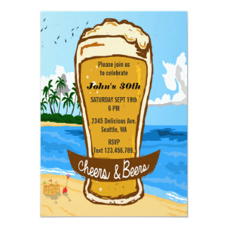 Cheers and Beers Party Invitation