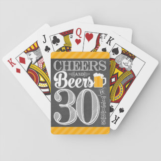 Cheers and Beers to 30 Years Playing Cards