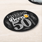 Cheers and Beers to 50 Years Drink Coasters