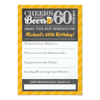 Cheers and Beers to 60 Years • Share a Memory Card