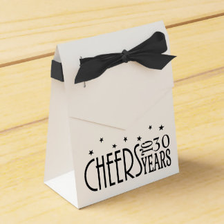 Cheers! Any Age or Years Chic Black Tie Favor Box Wedding Favour Box