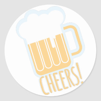 Cheers Beer Classic Round Sticker