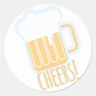 Cheers Beer Round Sticker