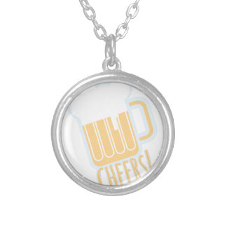 Cheers Beer Silver Plated Necklace