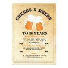 Cheers & Beers Birthday Party Any Age Invitation