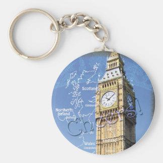 Cheers Big Ben Basic Round Button Key Ring