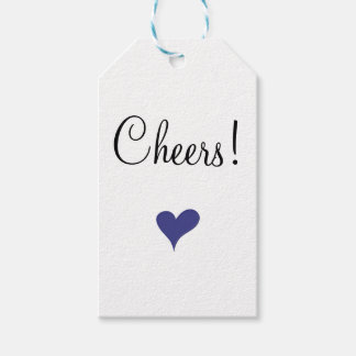 Cheers Blue Heart Gift Tags