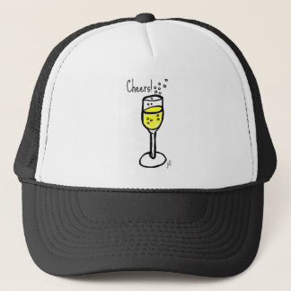 Cheers! Champagne sketch by jill Trucker Hat