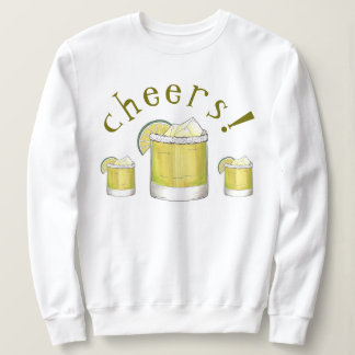 Cheers! Cinco de Mayo Margarita Cocktail Lime Sweatshirt