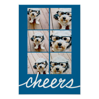 Cheers! Create Your Own Instagram Holiday Collage Poster