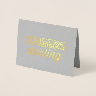 Cheers Darling Foil Card
