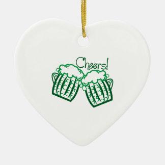 Cheers Ceramic Heart Ornament