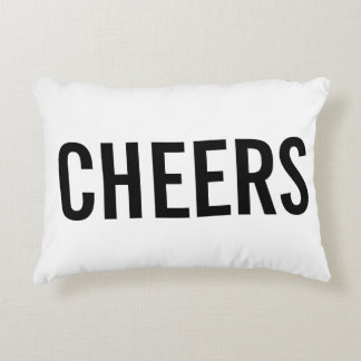 """Cheers"" Deecorative Throw Pillow"