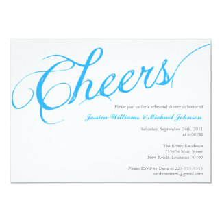 Cheers Dinner Party 13 Cm X 18 Cm Invitation Card