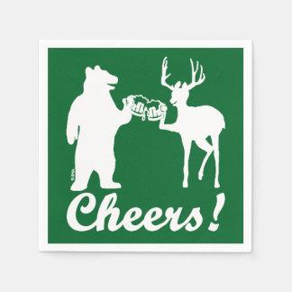 Cheers ! disposable serviette