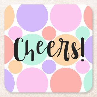 Cheers Dots Coasters