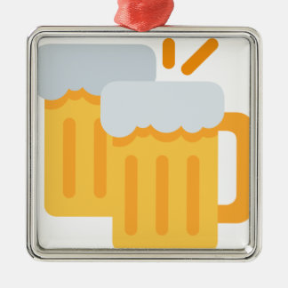 Cheers Emoji Metal Ornament