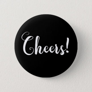 Cheers Fancy Typography 6 Cm Round Badge