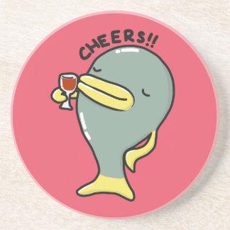 Cheers Fish Sandstone Coaster