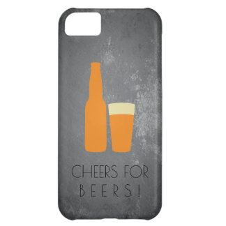 Cheers for Beers / Slate Grunge iPhone 5C Case