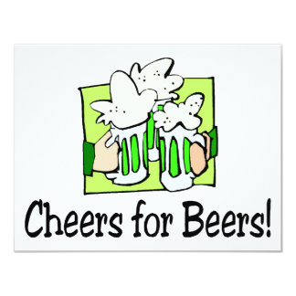 Cheers For Beers St Patty Day Custom Announcement