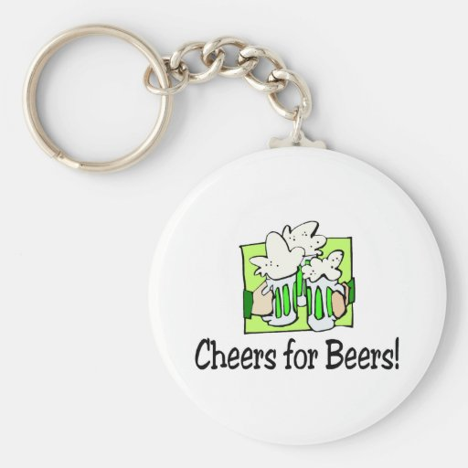 Cheers For Beers St Patty Day Key Chains