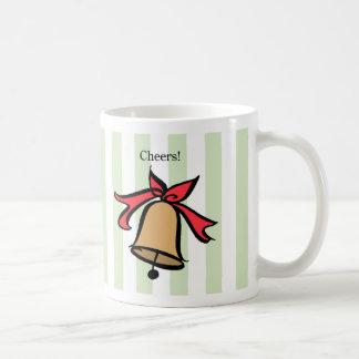 Cheers Gold Bell Coffee Mug Green