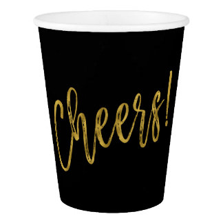 Cheers! Gold Foil Paper Cup