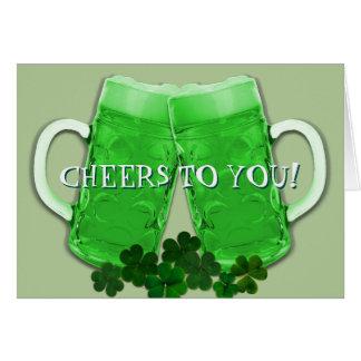 Cheers Green Beer Irish Birthday Message Card
