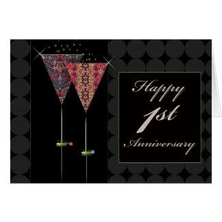 Cheers - Happy 1st Anniversary Card